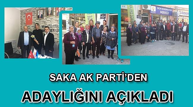 Saka AK Parti'den Adaylığını Açıkladı