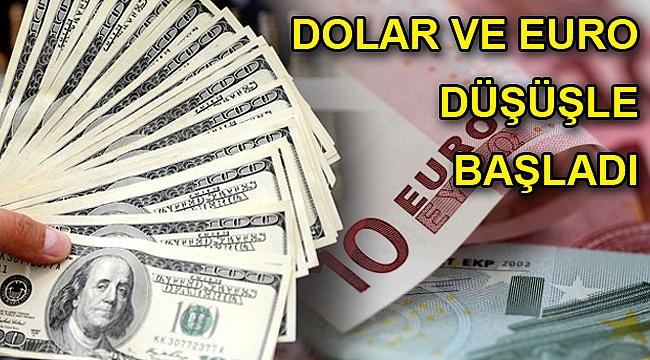 Dolar ve euro kuru düşüşle başladı