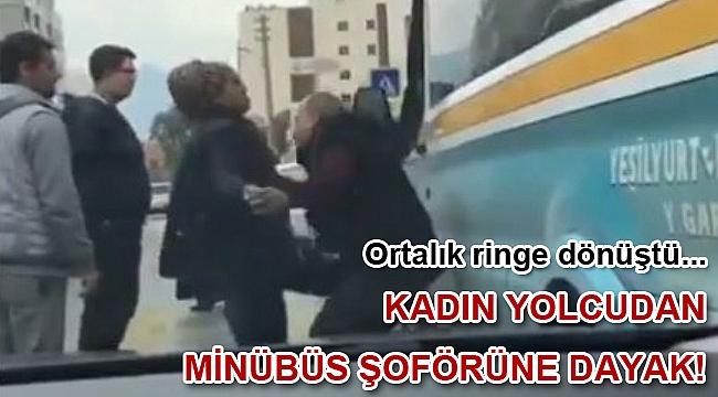 İzmir'de minibüs şoförüne darp!