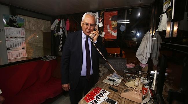 Başkan Selvitopu'nun gece taksici ziyareti