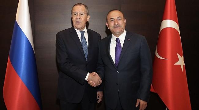 Çavuşoğlu ile Lavrov bir araya geldi!