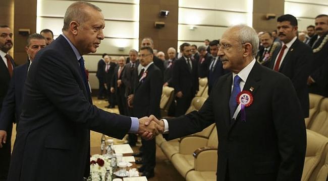 Cumhurbaşkanı Erdoğan ile Kılıçdaroğlu tokalaştı