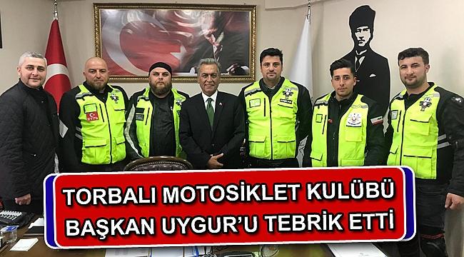TORBALI MOTOSİKLET KULÜBÜ UYGUR'U TEBRİK ETTİ