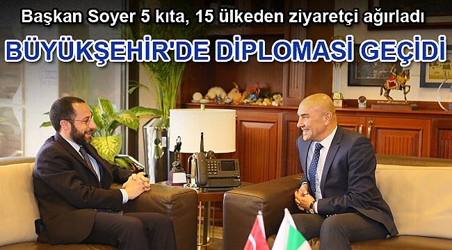 Büyükşehir'de diplomasi geçidi