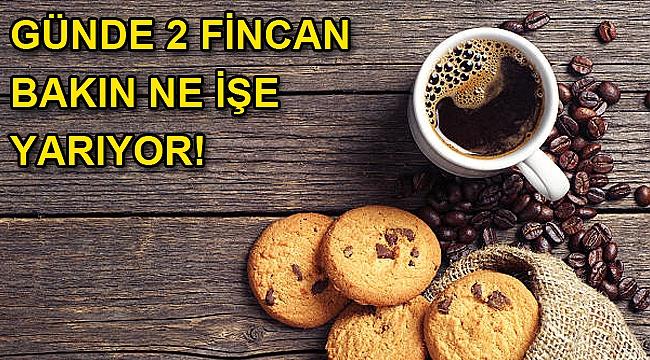 Günde iki fincan kahve içmek ömrü uzatıyor!