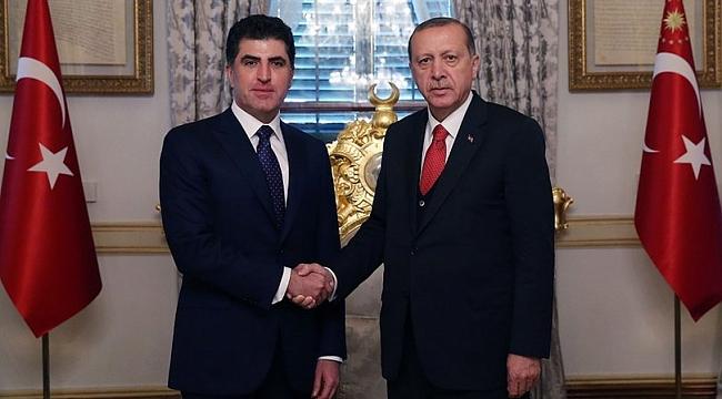 Barzani, Cumhurbaşkanı Erdoğan ile görüşmek üzere İstanbul'da