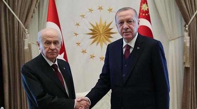 Cumhurbaşkanı Erdoğan ile Bahçeli görüşmesi başladı