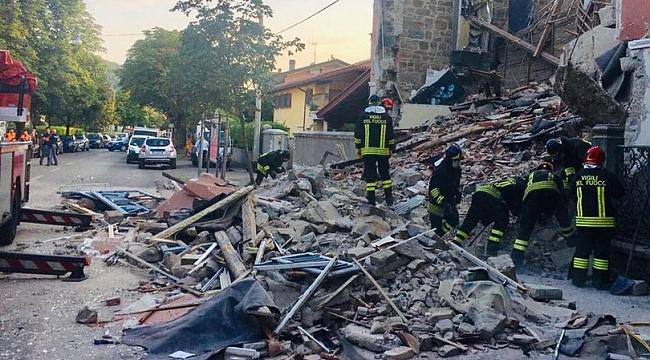İtalya'da doğalgaz patlaması! Bina çöktü, 2 kişi öldü