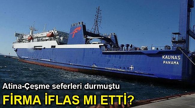 Çeşme- Atina arasındaki feribot seferleri durdu