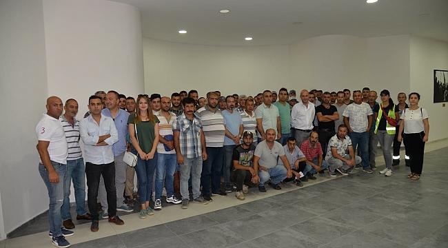 Menemen Belediyesi personeline iş güvenliği eğitimi
