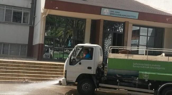 Konak'tan okullara temizlik harekatı