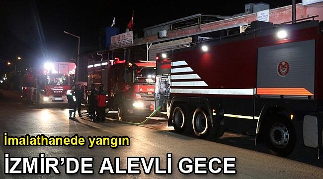 İzmir'de alevli gece! Bornova'da imalathanede yangın çıktı