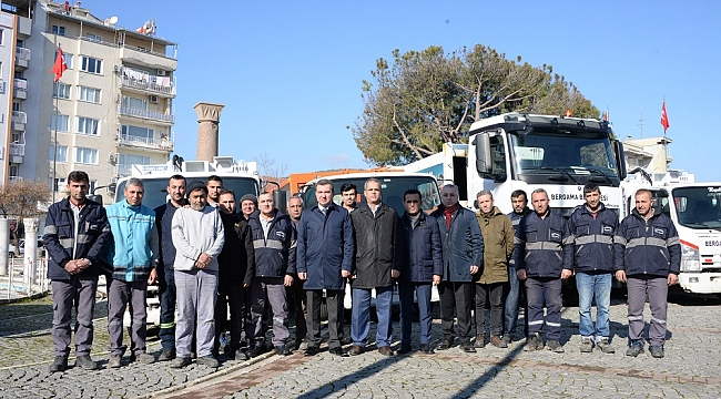 Bergama'nın temizlik araç filosu yenilendi