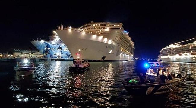 Dev yolcu gemisinde dehşet! Yolcu 10. kattan düştü
