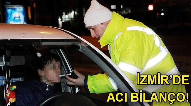 İzmir'de alkollü sürücü sayısı yüzde 21 arttı!