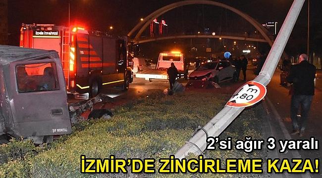 İzmir'de zincirleme kaza: 3 yaralı
