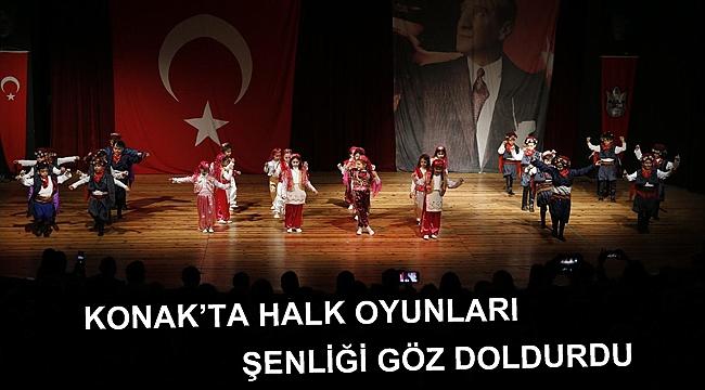 Konak'ta Halk oyunları şenliği göz doldurdu