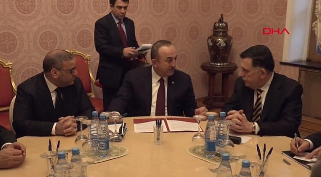 Libya krizinde önemli görüşme... Mevlüt Çavuşoğlu Moskova'da Sarrac ile buluştu