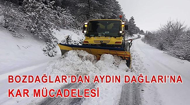 Bozdağlar'dan Aydın Dağları'na kar mücadelesi