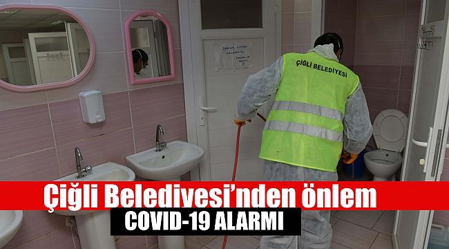 Çiğli Belediyesi'nden virüslere karşı dezenfekte önlemi