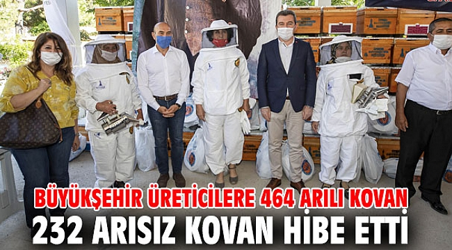 Büyükşehir üreticilere 464 arılı kovan 232 arısız kovan hibe etti
