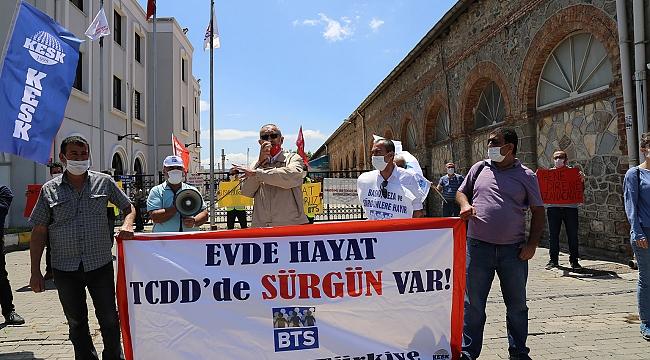 CHP'li Sertel'den TCDD eylemine destek