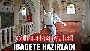 Çiğli Belediyesi camileri ibadete hazırladı