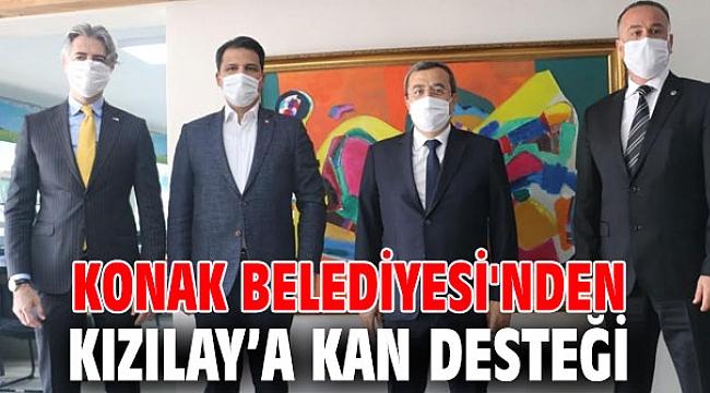 Konak Belediyesi Kızılay'a kan desteği