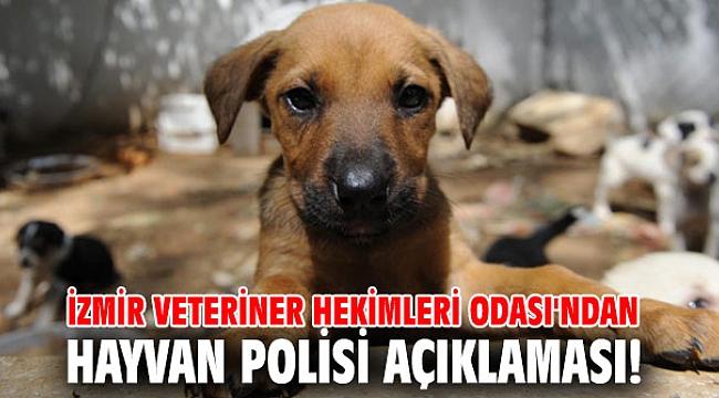 İzmir Veteriner Hekimleri Odası'ndan hayvan polisi açıklaması!