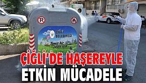 Çiğli Belediyesi, haşerelerle etkin mücadele ediyor