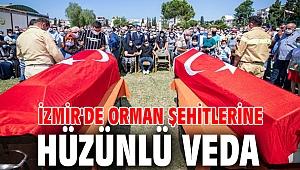 İzmir'de orman şehitlerine hüzünlü veda
