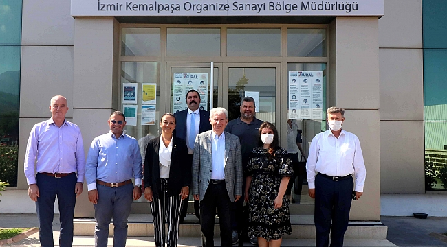 Kemalpaşalı sanayicilerden Kemalpaşa Organize Sanayi Bölgesi'ne ziyaret