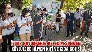 İzmir Büyükşehir Belediyesi'nden hijyen kiti ve gıda kolisi!