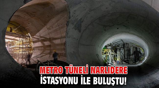 İzmir'de Metro tüneli Narlıdere İstasyonu ile buluştu!