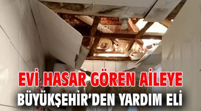 Evi hasar gören aileye destek!