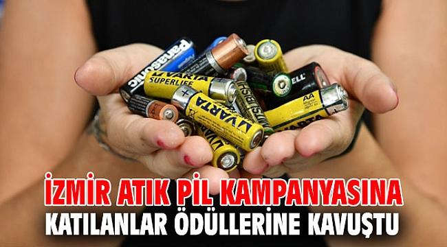 İzmir atık pil kampanyasına katılanlar ödüllerine kavuştu