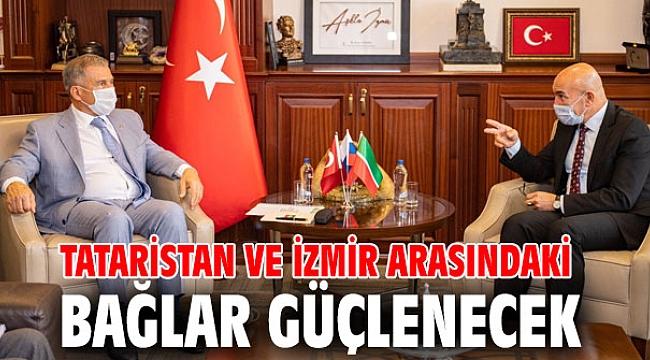 Tataristan Cumhurbaşkanı, Başkan Soyer'i ziyaret etti