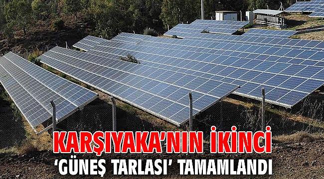 Karşıyaka'nın ikinci 'Güneş Tarlası' tamamlandı