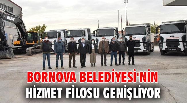 Bornova Belediyesi'nin hizmet filosu genişliyor