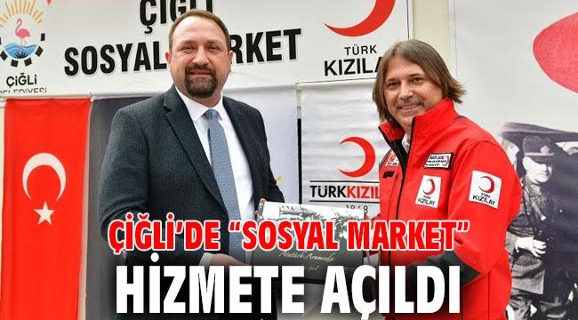 Çiğli'de Sosyal Market düzenlenen törenle açıldı!
