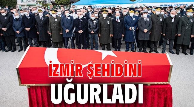 İzmir şehidini uğurladı