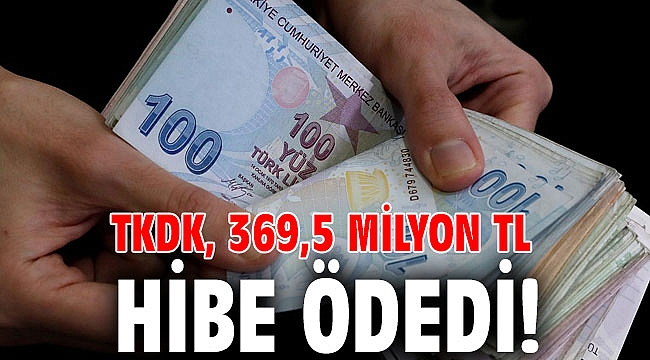 TKDK, 369,5 milyon TL hibe ödedi!