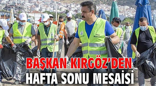 Başkan Kırgöz'den Hafta Sonu Mesaisi