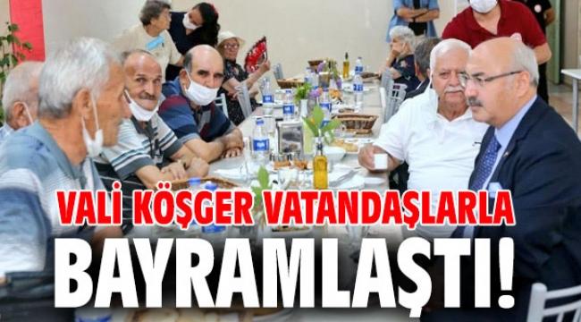 Vali Köşger vatandaşlarla bayramlaştı!