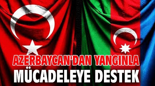 Azerbaycan'dan yangınla mücadeleye destek
