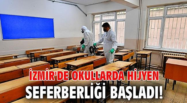 İzmir'de okullarda hijyen seferberliği başladı!