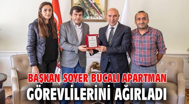 Başkan Soyer Bucalı apartman görevlilerini ağırladı